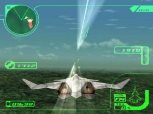 Attaque au sol dans le jeu Ace Combat 3 sur Playstation