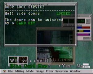 carte clé logiciel dans Resident Evil 2 sur PS1