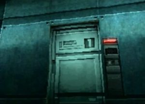 Une porte de niveau 1 dans Metal Gear Solid sur Playstation