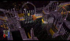 Une porte en or dans Technomage sur PS1