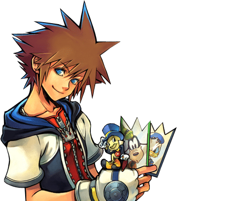 Artwork de Sora dans Kingdom Hearts Chain of Memories