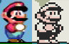 Mario dans Super Mario World et Super Mario Land 2