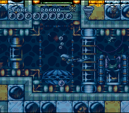 Tornade dans le niveau aquatique de Arcade's Revenge sur SNES