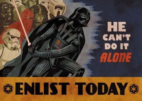I want you avec Darth Vader