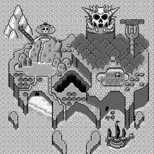 La carte des niveaux dans Wario land sur Game Boy