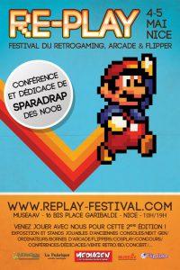 Affiche du festival retrogaming Re-Play 2013