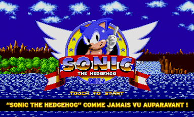 écran de demarrage de Sonic the Hedgehog sur Android