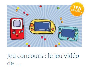 Jeu concours TEN jeux vidéo