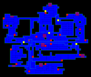 carte du chateau de castlevania gba