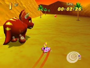 boss fight triceratops diddy kong racing n64