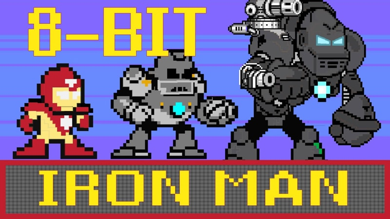 Iron Man jeu video 8 bits