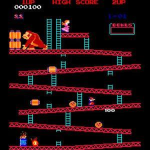 Mario jumpman dans donkey kong NES