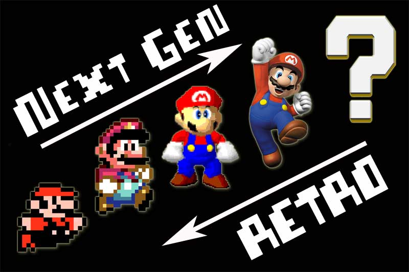 Evolution mario retro next gen