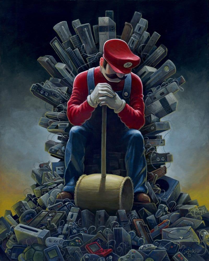 Artwork game of thrones mario
