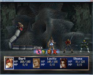 utilisation objet combat legend of dragoon
