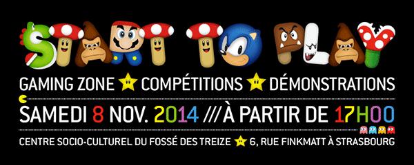 Soirée start to play 2014 Strasbourg Ludus acdémie