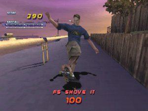 Tony Hawk dans tony hawk's pro skater 2 sur Playstation