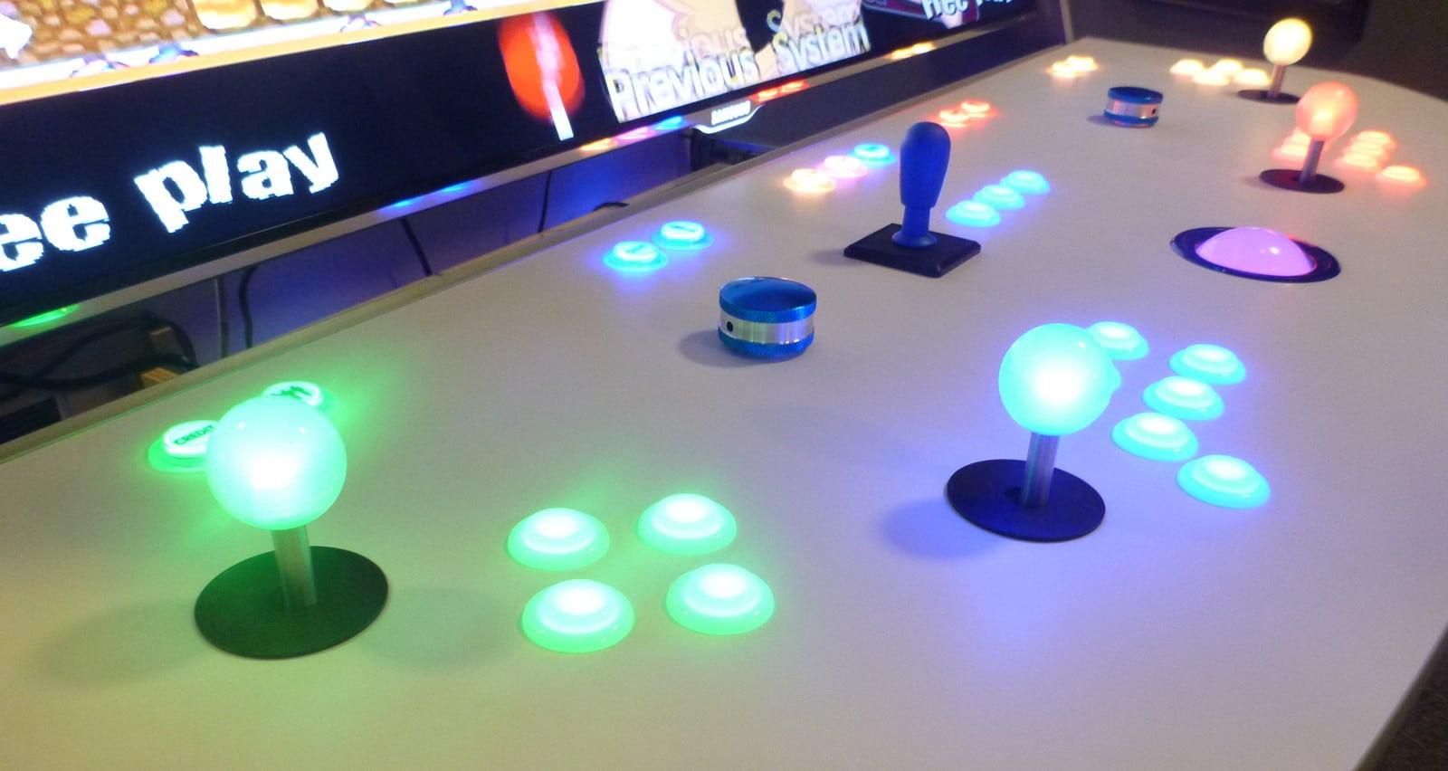 Borne arcade moderne lumineuse