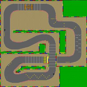 Map de Mario Circuit 2 sur SMK