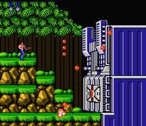 Screenshot de Contra 1 sur NES