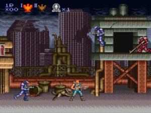 Niveau 1 du jeu Contra 3 sur super Nes