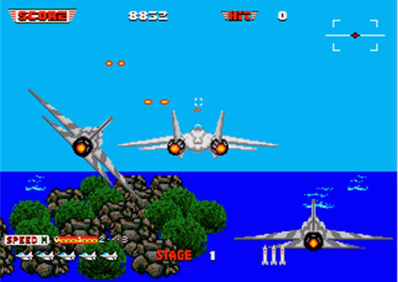 screenshot after burner 2 mega drive