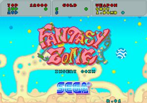 Ecran titre de Fantasy Zone