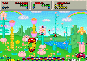 Side scrolling à gauche Fantasy zone