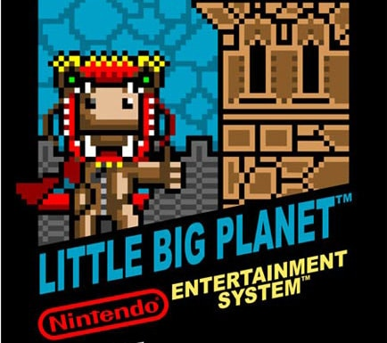 jaquette de little big planet inspiration NES
