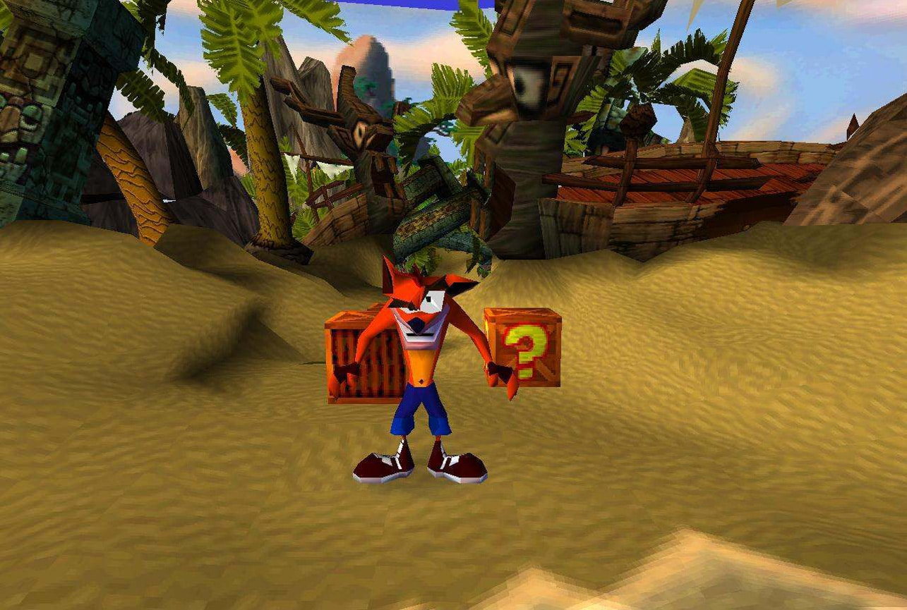 Niveau 1 de crash bandicoot 1 sur psx