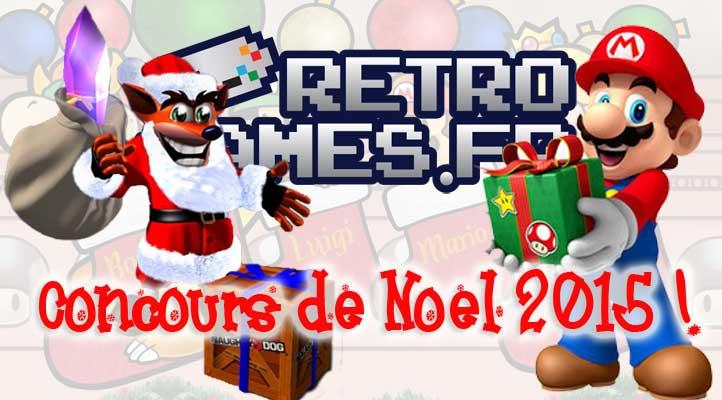 concours de noel 2015 retro-games.fr