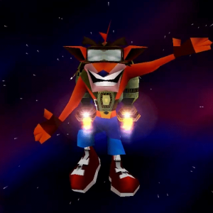 Crash bandicoot avec son jetpack