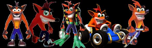evolution de crash bandicoot sur ps1