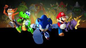 Crash Bandicoot, Croc, Sonic, Mario et Spyro mascottes