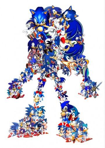 evolution du character design de sonic depuis sa création