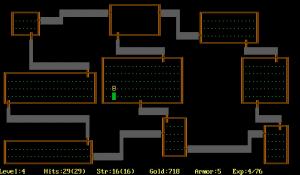 screenshot du jeu rogue sur amiga atari commodore 64