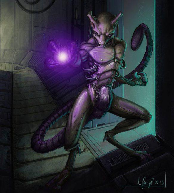 peinture réaliste du pokémon mewtwo par Simon Gangl