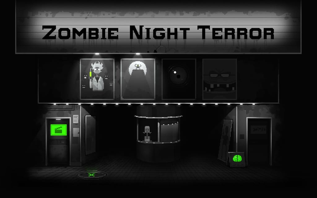ecran titre du jeu de reflexion zombie night terror