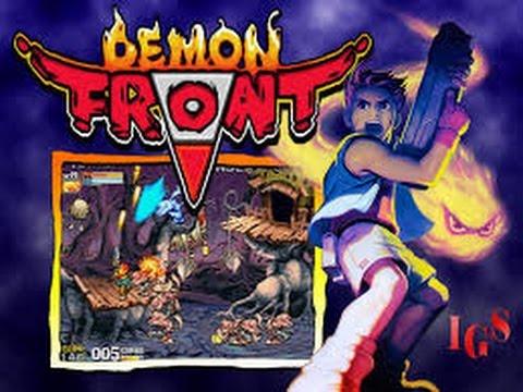 illustration du personnage principal du shoot em up arcade Demon Front