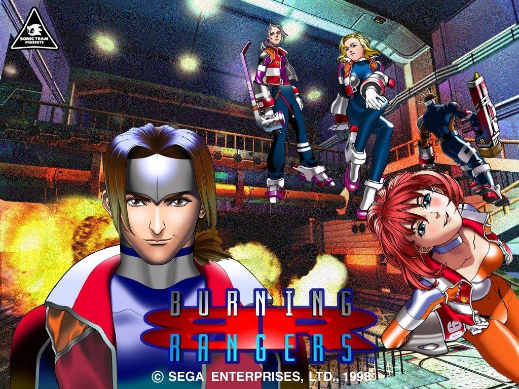 artwork des personnages du jeu vidéo burning rangers sur Saturn