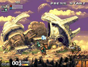 gameplay du jeu d'arcade Demon Front par IGS