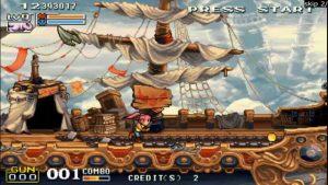 niveau du bateau pirate dans le run and gun Demon Front