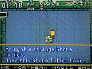 tablette en pierre dans le jeu zelda ancient stone tablets