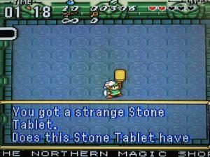 tablette en pierre dans le jeu zelda ancient stone tablets