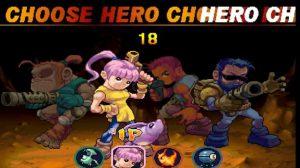 personnages jouables du jeu d'arcade demon front