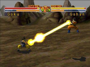 technique de contre d'un kamehameha dans le jeu dragon ball gt final bout