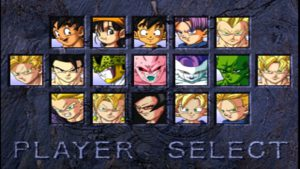 Personnages jouables dragon ball final bout psx