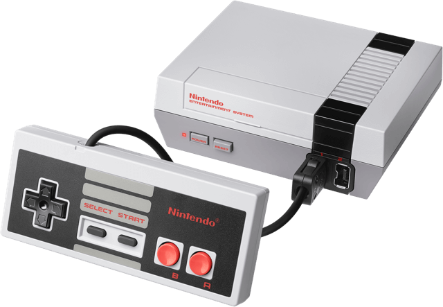 mini console retrogaming de salon nintendo nes classic mini avec manette
