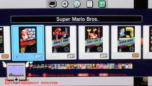 interface menu des jeux nintendo nes classic mini 2016