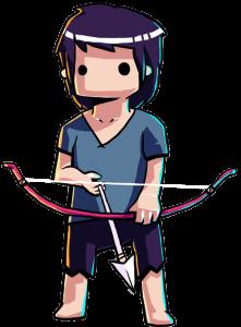 héros du jeu titan souls avec son arc à une seule flèche